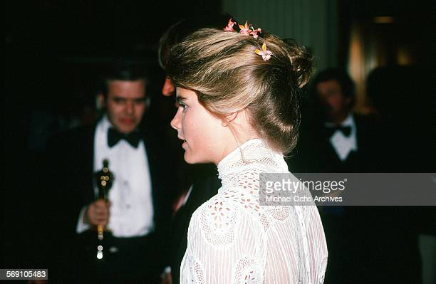 Mariel Hemingway after the 52nd Academy Awards at Dorothy Chandler Pavilion in Los AngelesCalifornia