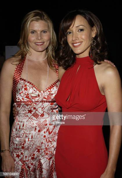 Mariel Hemingway and Jennifer Beals during The 14th Annual GLAAD Media Awards Los Angeles Backstage at Kodak Theatre in Los Angeles California United...