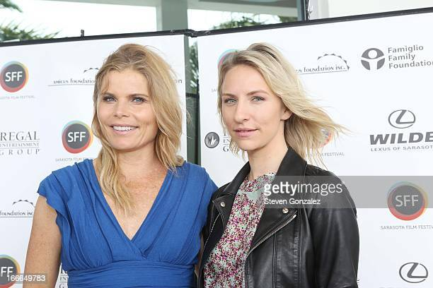 Mariel Hemingway and Mickey Sumner attends Sarasota Film Festival 2013 Tribute Luncheon at Sarasota Yacht Club on April 12 2013 in Sarasota Florida
