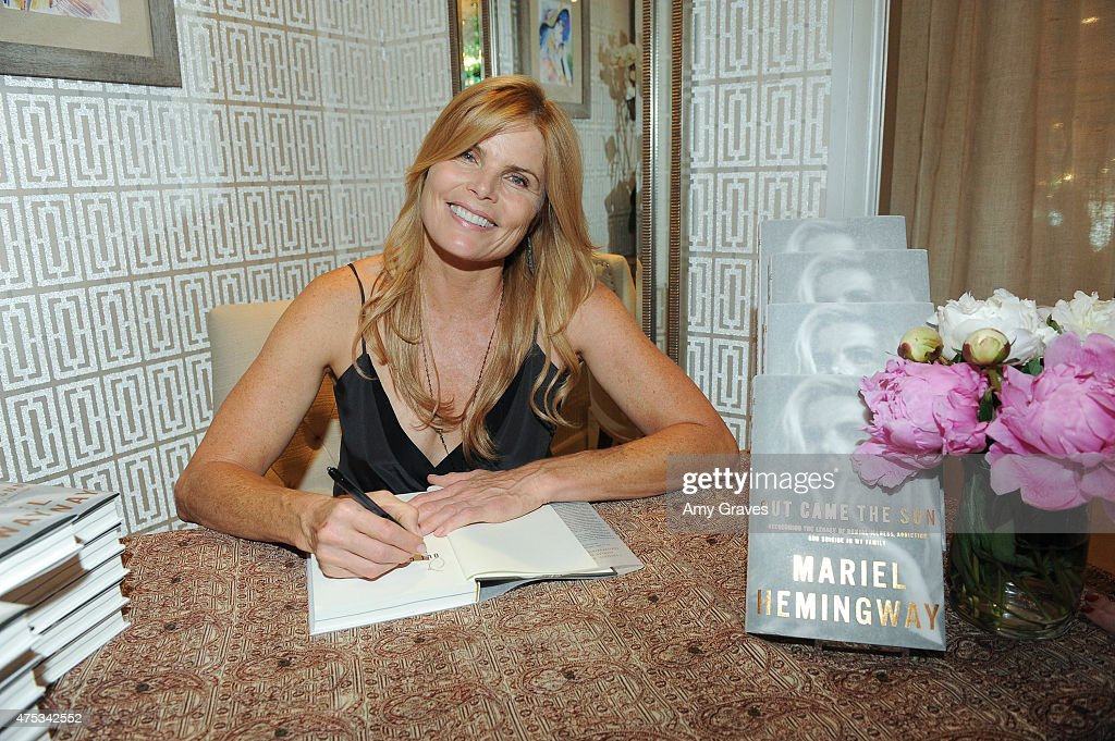 Mariel Hemingway attends her book signing for 'Out Came the Sun: Overcoming the Legacy of Mental Illness, Addiction, and Suicide in My Family' at Brigitte and Stone on May 30, 2015 in Los Angeles, California.