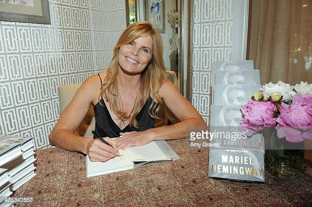 Mariel Hemingway attends her book signing for 'Out Came the Sun Overcoming the Legacy of Mental Illness Addiction and Suicide in My Family' at...