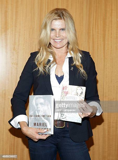 Mariel Hemingway promotes her new book 'Out Came The Sun' with Judith Regan at Barnes Noble 86th Lexington on April 8 2015 in New York City