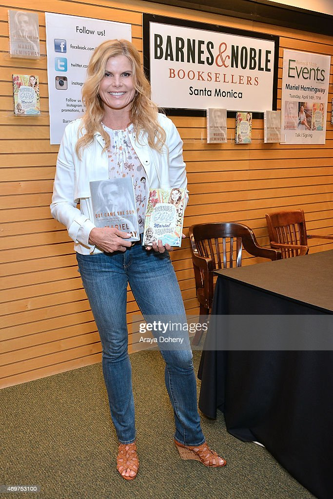 Mariel Hemingway signs copies of her new book 'Out Came The Sun' at Barnes & Noble 3rd Street Promenade on April 14, 2015 in Santa Monica, California.