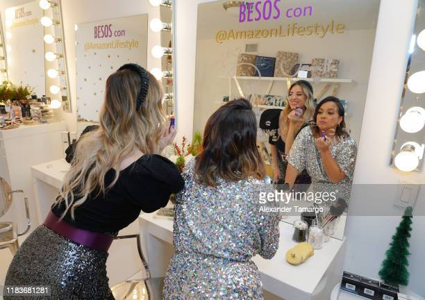 Mariela Bagnato and Adamari Lopez celebrate the holiday season with Fiestas Amazon on November 20, 2019 in Miami, Florida. Mariela Bagnato y Adamari...