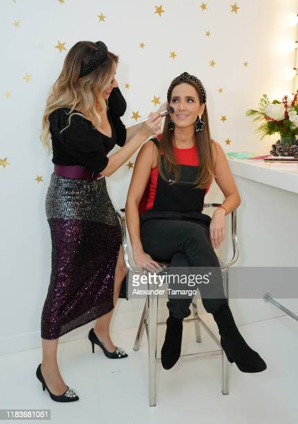 Mariela Bagnato and Andrea Minski celebrate the holiday season with Fiestas Amazon on November 20, 2019 in Miami, Florida. Mariela Bagnato y Andrea...