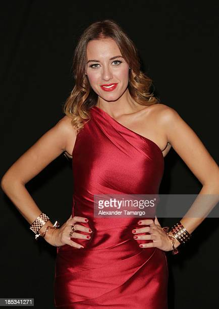 Mariela Bagnato participates in the Red Dress Fashion Show to benefit the American Heart Association during Funkshion Fashion Week on October 18,...