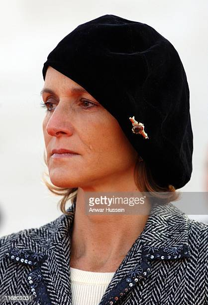 MarieLaure de Villepin wife of French Prime Minister Dominique de Villepin has tears in her eyes as she attends a ceremony to mark the 90th...