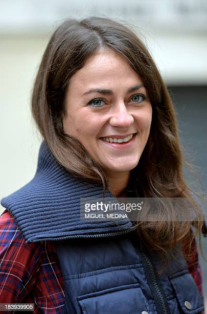 MarieLaure Harel Paris' city councillor of the 12th arrondissement is pictured during a press conference of French opposition rightwing UMP candidate...