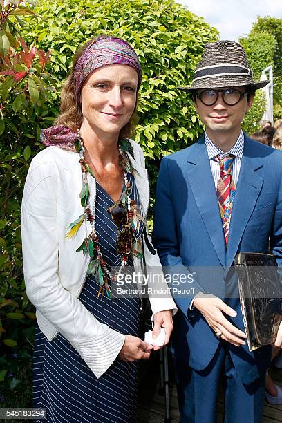 MarieLaure Le Guay and guest attend the Franck Sorbier Haute Couture Fall/Winter 20162017 show as part of Paris Fashion Week on July 6 2016 in Paris...