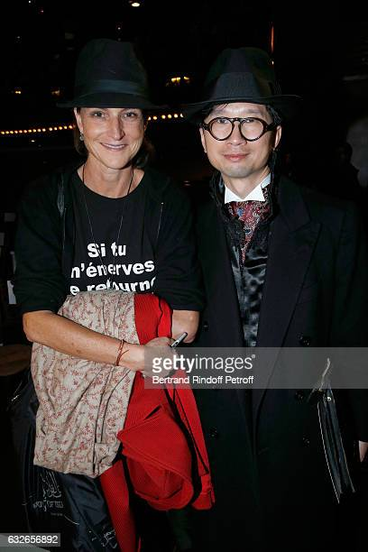 MarieLaure Le Guay and guest attend the Franck Sorbier Haute Couture Spring Summer 2017 show as part of Paris Fashion Week on January 25 2017 in...