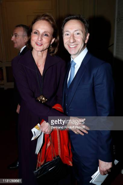 MarieLaure Le Guay and Stephane Bern attend the Fondation Prince Albert II De Monaco Evening at Salle Gaveau on February 21 2019 in Paris France