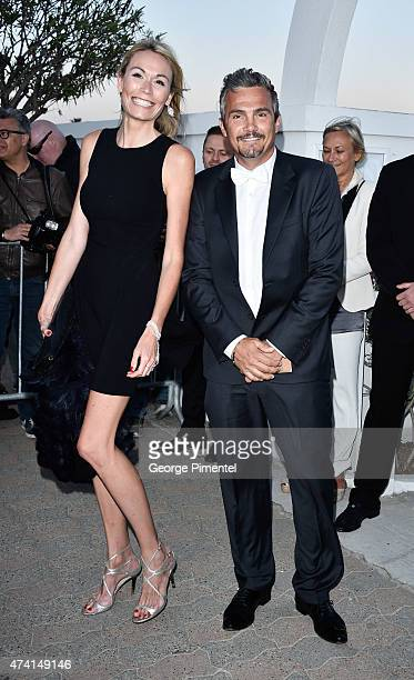 MarieLaure Virenque and Richard Virenque attend the Chanel Vanity Fair party during the 68th annual Cannes Film Festival on May 20 2015 in Cannes...