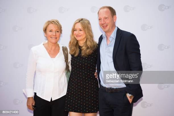 Mariele Millowitsch Stefanie Stappenbeck and Johann von Buelow attend the ZDF reception during the Munich Film Festival at Hugo's on June 27 2017 in...