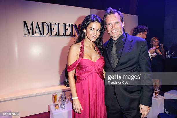 Mariella Ahrens and Alexander Weih attend Madeleine at Goldene Henne 2014 on October 10 2014 in Leipzig Germany