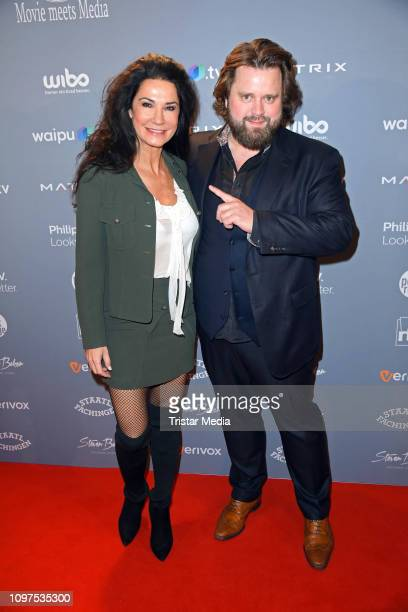 Mariella Ahrens and Antoine Monot Jr attend the Movie Meets Media party during 69th Berlinale International Film Festival at Hotel Adlon on February...