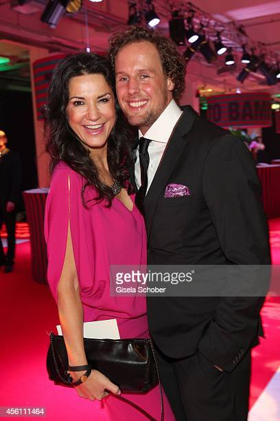 Mariella Ahrens and her boyfriend Marc Sebastian Esser arrive at Tribute To Bambi 2014 at Station on September 25 2014 in Berlin Germany