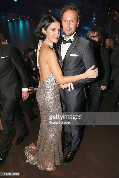 Mariella Ahrens and her boyfriend Marc Sebastian Esser during the Bambi Awards 2016 party at Atrium Tower on November 17 2016 in Berlin Germany