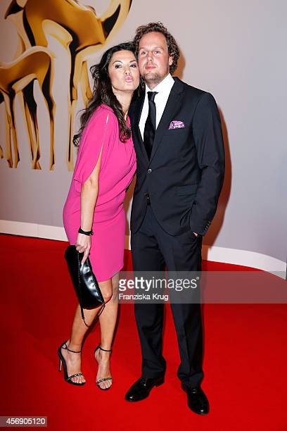 Mariella Ahrens and her boyfriend Sebastian Esser attend the Tribute To Bambi 2014 on September 25 2014 in Berlin Germany