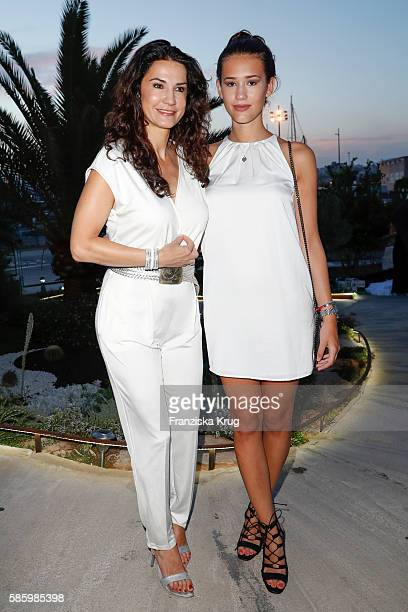 Mariella Ahrens and her daughter Isabella attend the Remus Lifestyle Night 2016 on August 4 2016 in Palma de Mallorca Spain