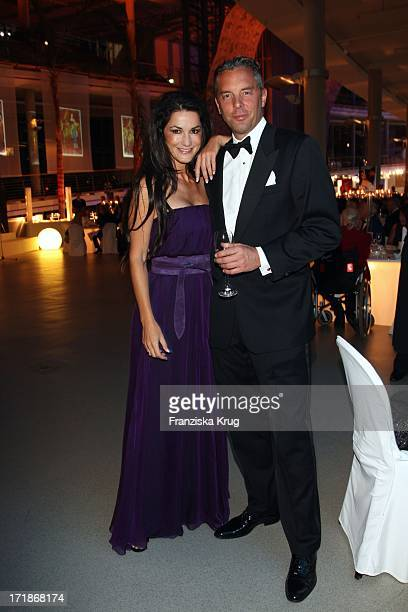 Mariella Ahrens and husband And Patrick Graf Von Faber Castell at 90th birthday of Artur Braunerr In Berlin On 130908