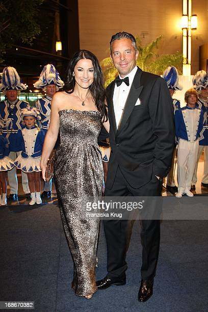 Mariella Ahrens and Husband Patrick Graf von Faber-Castell In The UNESCO Charity Gala at the Maritim Hotel in Dusseldorf