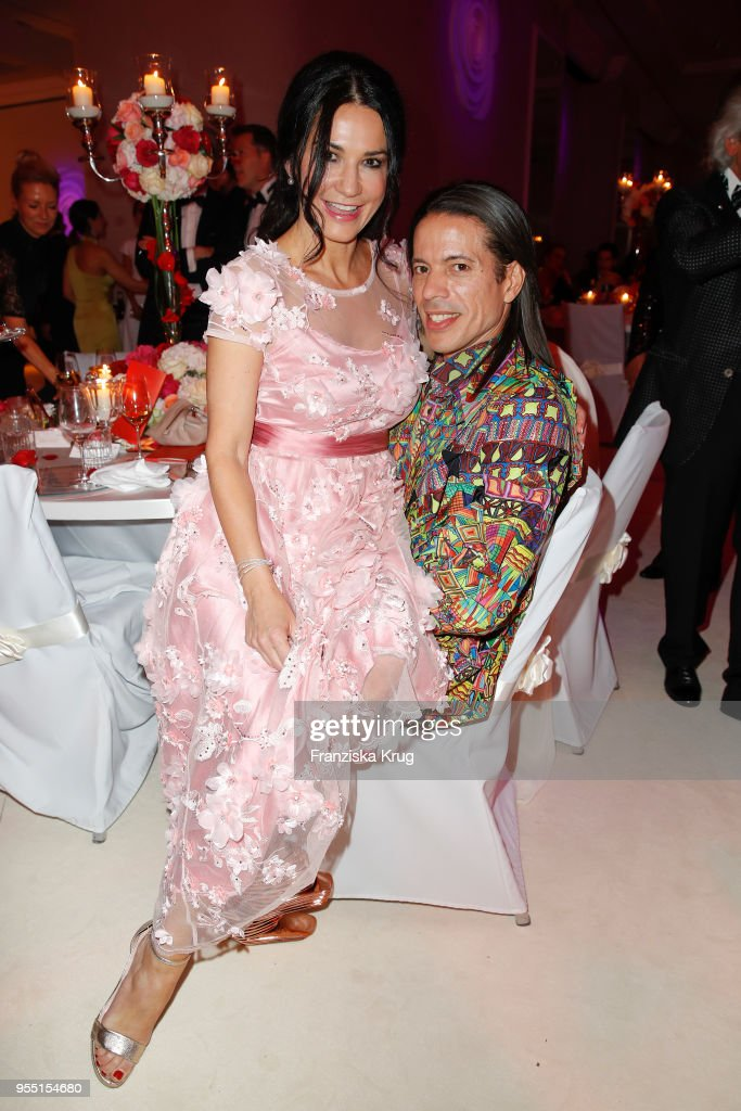 Mariella Ahrens and Jorge Gonzalez during the Rosenball charity event at Hotel Intercontinental on May 5, 2018 in Berlin, Germany.