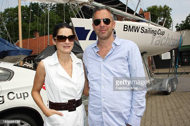 Mariella Ahrens and Patrick Graf Von Faber Castell at 'BMW Sailing Cup' at the Wannsee in Berlin.at the Wannsee in Berlin.