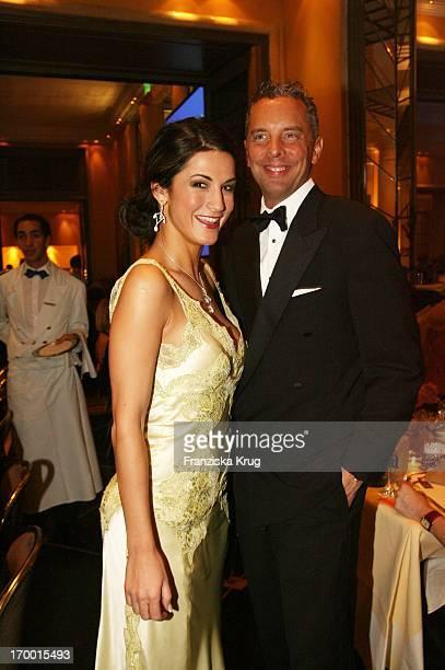 Mariella Ahrens and Patrick Graf Von Faber Castell at Party After The German Film Ball in the Hotel Bayerischer Hof in Munich.