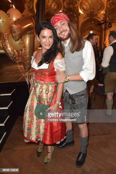 Mariella Ahrens and Riccardo Simonetti during the 70th anniversary celebration of the clothing company Angermaier at Deutsches Theatre on June 7 2018...