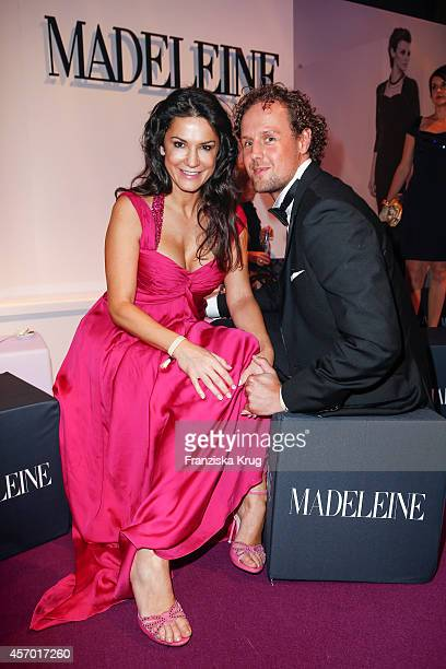 Mariella Ahrens and Sebastian Esser attend Madeleine at Goldene Henne 2014 on October 10 2014 in Leipzig Germany