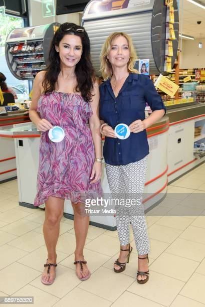 Mariella Ahrens and Tina Ruland during 'Deutschland rundet auf' Charity Event in Berlin on May 29 2017 in Berlin Germany