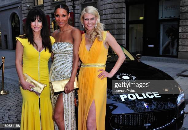 Mariella Ahrens Annabell Mandeng and Natascha Gruen attend the Dressvegas Party at Heart Private Club on May 29 2013 in Munich Germany