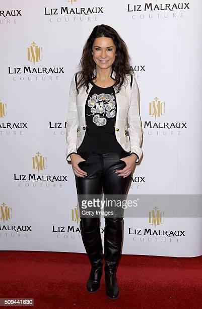 Mariella Ahrens attends Liz Malraux Fashion Show at Hotel Atlantic on February 10 2016 in Hamburg Germany