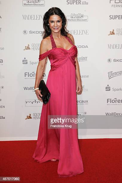 Mariella Ahrens attends Madeleine at Goldene Henne 2014 on October 10 2014 in Leipzig Germany