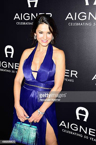 Mariella Ahrens attends the Bambi Awards 2015 party at Atrium Tower on November 12, 2015 in Berlin, Germany.