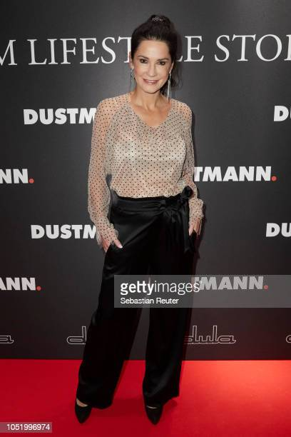 Mariella Ahrens attends the Dustmann store preopening on October 12 2018 in Dortmund Germany