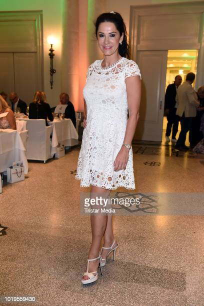Mariella Ahrens attends the GGH EAGLES Charity Hauptstadt Cup Gala evening at Hotel de Rome on August 19 2018 in Berlin Germany
