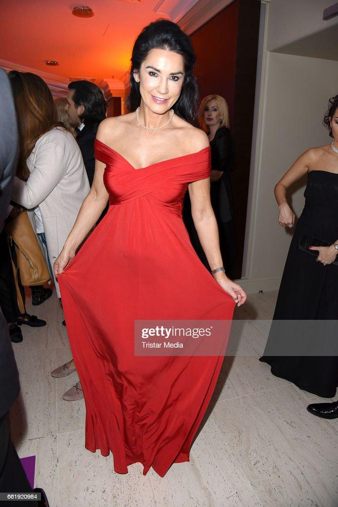 Mariella Ahrens attends the Gloria - Deutscher Kosmetikpreis 2017 at Hilton Hotel on March 31, 2017 in Duesseldorf, Germany.