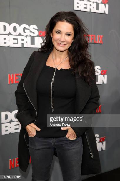 Mariella Ahrens attends the premiere of the Netflix Original Series 'Dogs of Berlin' at Kino International on December 06 2018 in Berlin Germany
