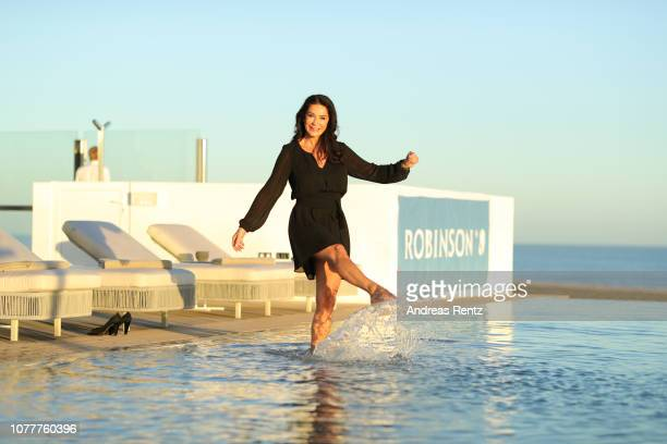 Mariella Ahrens attends the reopening of ROBINSON Club Jandia Playa on December 04 2018 in Fuerteventura Spain