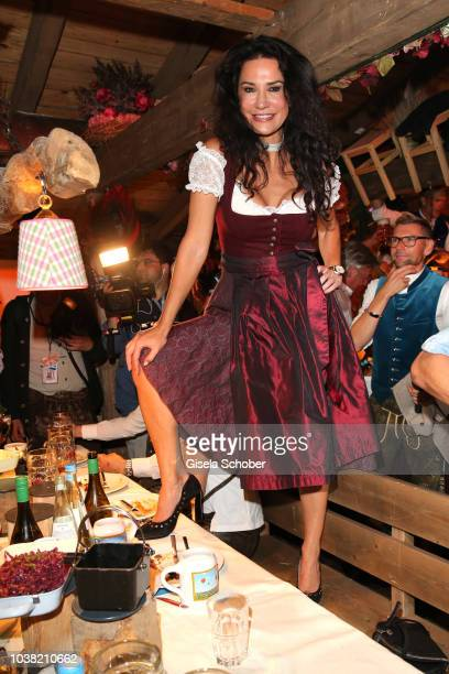Mariella Ahrens during the Oktoberfest 2018 opening at Kaeferschaenke at Theresienwiese on September 22 2018 in Munich Germany