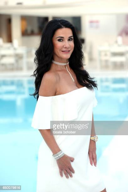 Mariella Ahrens during the Zhero hotel and 'Bahia Mediterraneo' restaurant opening on June 3 2017 in Palma de Mallorca Spain