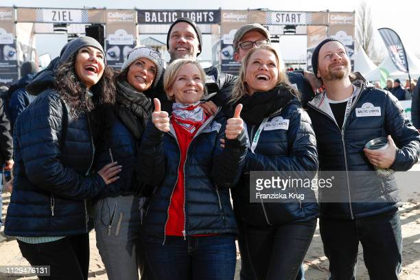 Mariella Ahrens, Gerit Kling, Matthias Schloo, Andrea Kathrin Loewig, Joseph Heynert, Nova Meierhenrich, Fabian Busch participate in the sled dog...