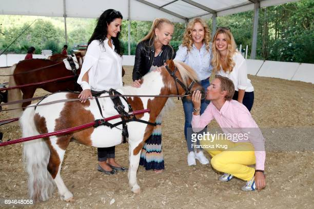 Mariella Ahrens Jenny Elvers Katja Burkard Susan Sideropoulos and Jens Hilbert during the Balve Optimum International Horse Show on June 10 2017 in...