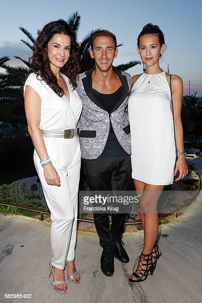 Mariella Ahrens Marcel Remus and her daughter Isabella attend the Remus Lifestyle Night 2016 on August 4 2016 in Palma de Mallorca Spain