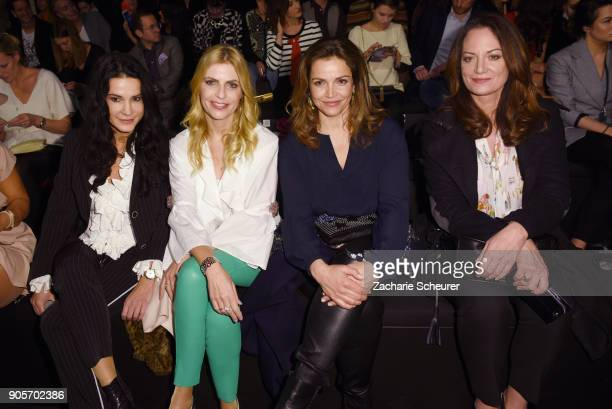 Mariella Ahrens Tania Buelter Rebecca Immanuel and Natalie Woerner attend the Riani show during the MBFW Berlin January 2018 at ewerk on January 16...