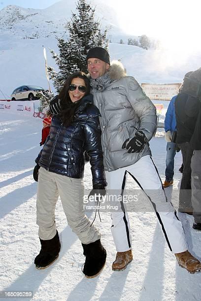 Mariella Ahrens Und Eheman Graf Patrick Von Faber-Castell Beim 2. Promi Schlittenhunderennen Tirol Cross Mountain In Kühtai .