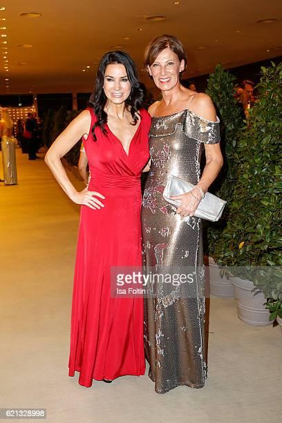 Mariella Ahrens wearing a dress designed by Minx and Minx Designer Eva Lutz attend the 23rd Opera Gala at Deutsche Oper Berlin on November 5 2016 in...