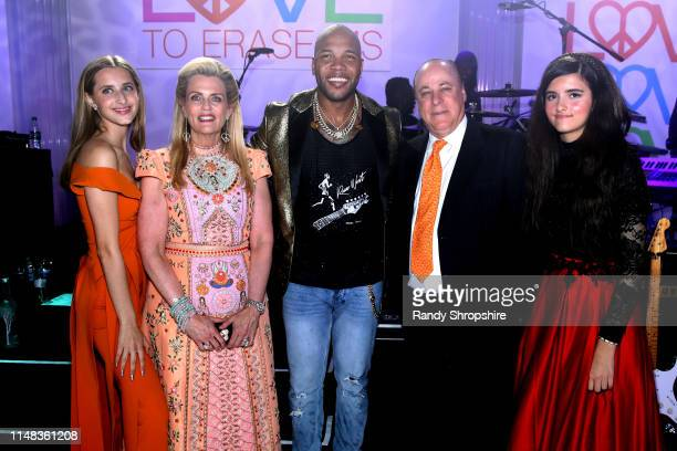 Mariella Davis Race to Erase MS founder Nancy Davis Flo Rida Ken Rickel and Angelina Jordan onstage during the 26th annual Race to Erase MS on May 10...