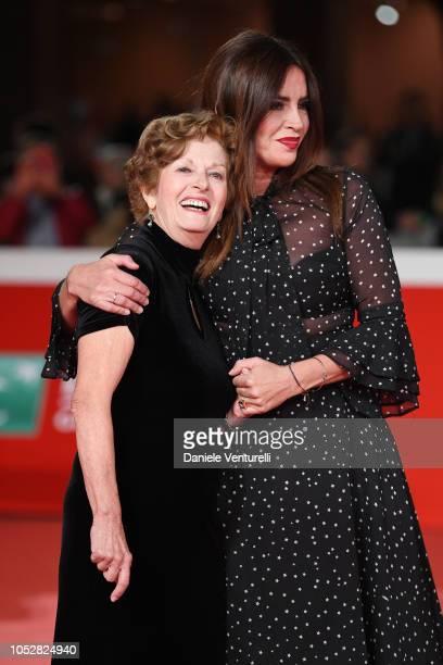 Mariella Fenoglio and Francesca Rettondini from Il Cioccolatino movie walk the red carpet ahead of the Il Flauto Magico Di Piazza Vittorio screening...